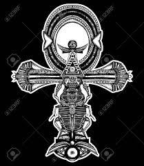 ankh tattoo ancient egyptian cross t shirt design decorative