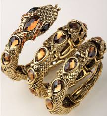crystal snake bracelet images Stretch snake bracelet armlet upper arm cuff for women punk rock jpg