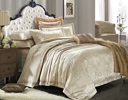 Luxury King Comforter Sets Luxury European Beige Gold Satin Bedding Sets Comforter King Best