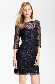 Black Cocktail Dresses Nordstrom Kay Unger Sequin Lace Sheath Dress Nordstrom Clothing
