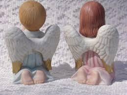Home Interior Angel Figurines Vintage Praying Angel Figurines 1412 Home Interior Boy
