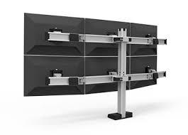 Computer Desk For Multiple Monitors Multiple Monitor Desk Clamp Mount For Six Monitors