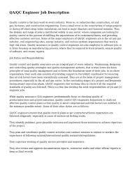 Quality Assurance Manager Resume Sample Qa Qc Engineer Resume Civil Virtren Com