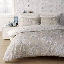 vantona honor floral butterfly print stone duvet cover set dove mill
