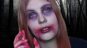 easy zombie makeup tutorial youtube