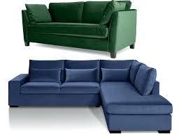 canapé convertible velours design d intérieur canape velours vert canapacs en et bleu marine