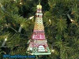 eiffel tower ornaments glass