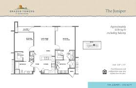 Juniper Floor Plan Residences Brazos Towers At Bayou Manor