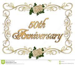 fiftieth anniversary 50th anniversary invitation royalty free stock photos image 5569798
