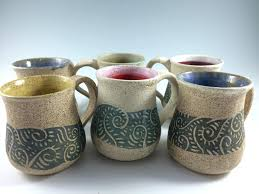 togo coffee mug handmade handless mug beaker pottery cup coffee