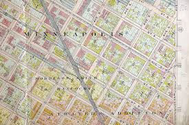Old Las Vegas Map by Old Real Estate Maps Of The Twin Cities Contain Details Of A
