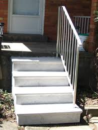 Handrail For Two Steps Styles And Colors Hampton Concrete Products