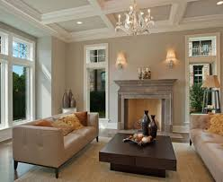 living room craftsman style living room with flagstone fireplace