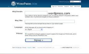 tutorial wordpress blog tutorial create a free blog in wordpress