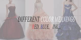 the meaning of red blue green or pink in colored wedding dresses