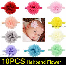 baby girl hair bands 10pcs wholesale baby infant toddler flower headband chiffon