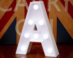 white light up letters light up letter etsy