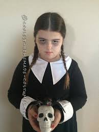 minute easy wednesday addams costume
