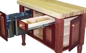 kitchen island with trash bin kitchen island with trash can and tremendous kitchen butcher block