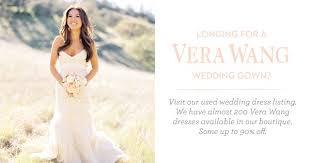 used vera wang wedding dresses once wed