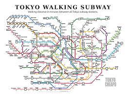 Tokyo Metro Map by The Tokyo Cheapo Walking Subway Map Tokyo Cheapo