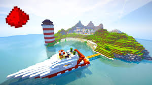 Mincraft Maps Private Island Redstone House Entire Island Made Of Redstone