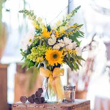 Vase Of Sunflowers Sunflower Mix By Grace In High Point Nc Grace Flower Shop Inc