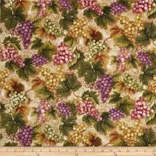 Vineyard Home Decor by Vineyard Grape Cluster Merlot Discount Designer Fabric Fabric Com