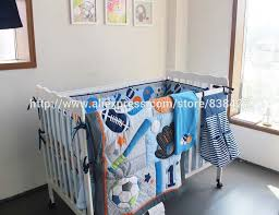 ups free baby crib bedding sets baseball sports baby boy cot crib