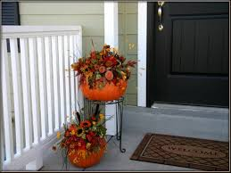 Decorations Pumpkin And Flower bination Fall Patio