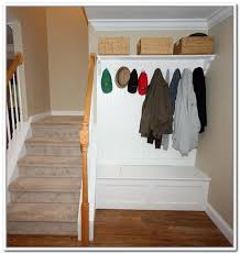 hallway storage bench with coat rack home design ideas