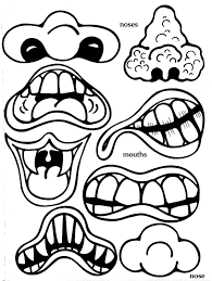 Halloween Cartoon Monsters by Printable Monster Face Cut Outs Yahoo Image Search Results