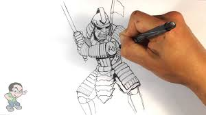 coloring page amazing drawings of samurai drawing for