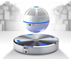 floating bluetooth speaker with levitating orb and magnetic base