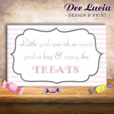 baby shower dessert table sign customizable printed
