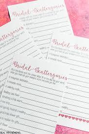 Wedding Shower Games Printable Bridal Shower Scattergories Game Real Housemoms