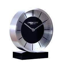 funky desk clocks stylish mantel clock in silver and black cool desk clocks