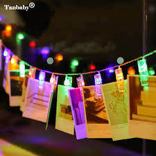 tanbaby led photo clip string lights aa battery operated indoor