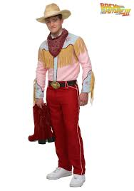 Mens Cowboy Halloween Costume Future Iii Cowboy Marty Costume