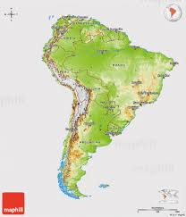 Geographical Map Of South America Physical 3d Map Of South America Cropped Outside