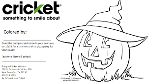 halloween coloring contest by cricket wireless u2022 in new braunfels