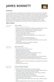 Resume Sample For College Students by Senior Pastor Resume Samples Visualcv Resume Samples Database