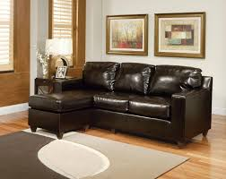 Living Room With Brown Leather Sofa by Small Scale Furniture Best Choices For Tiny Living Room Designs