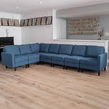 fabric sectional sofa carolina 7 piece versatile fabric sectional couch ebay