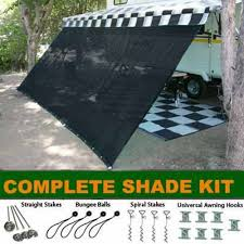 Rv Awning Extensions Amazon Com Black Rv Awning Shade Complete Kit 10 U0027 X 16 U0027 Sun Shade
