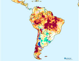 Central South America Map by South America Water Deficits To Persist In Central Brazil Chile