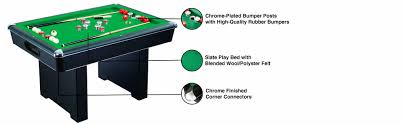 slate bumper pool table amazon com hathaway renegade 54 in slate bumper pool table for