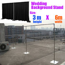 wedding backdrop and stand 3m 6m wedding backdrop stand pipe stend for backdrop curtain