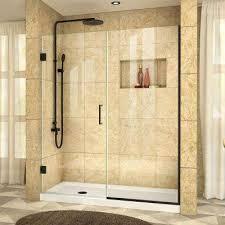 Black Shower Door Black Shower Doors Showers The Home Depot
