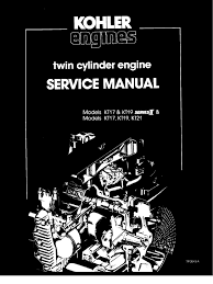 kohler serial number significance table kohler kt17 kt19 series ii service manual